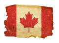 Canada Flag old, isolated on white background - PhotoDune Item for Sale
