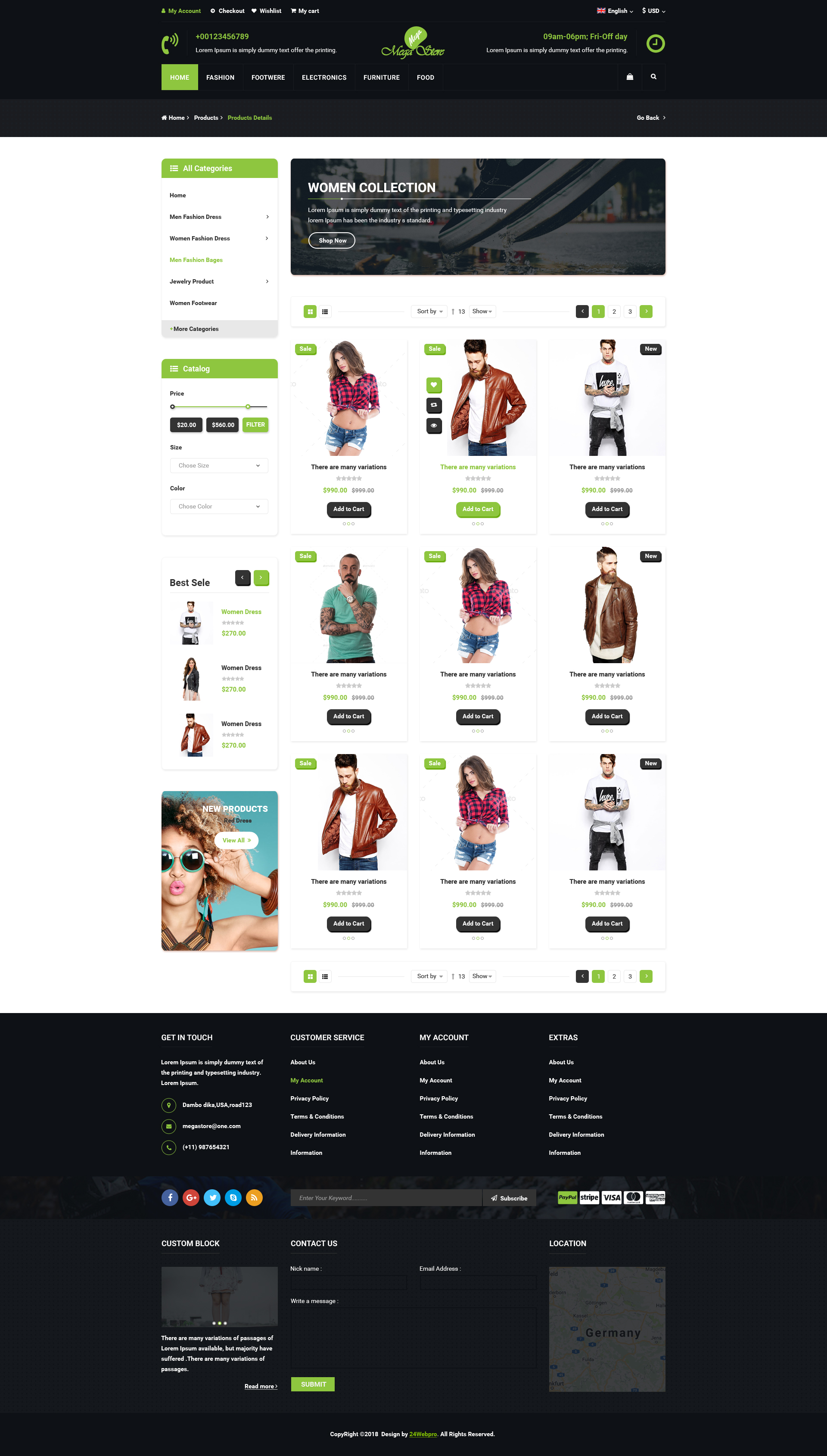 mega store e commerce psd template by 24webpro themeforest
