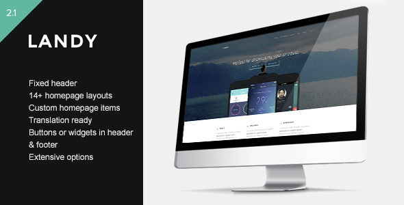 Landy - Clean & Sleek Landing Page Theme - Technology WordPress