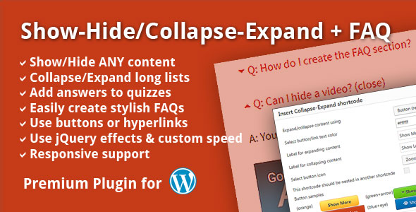 Show-Hide/Collapse-Expand + FAQ - CodeCanyon Item for Sale