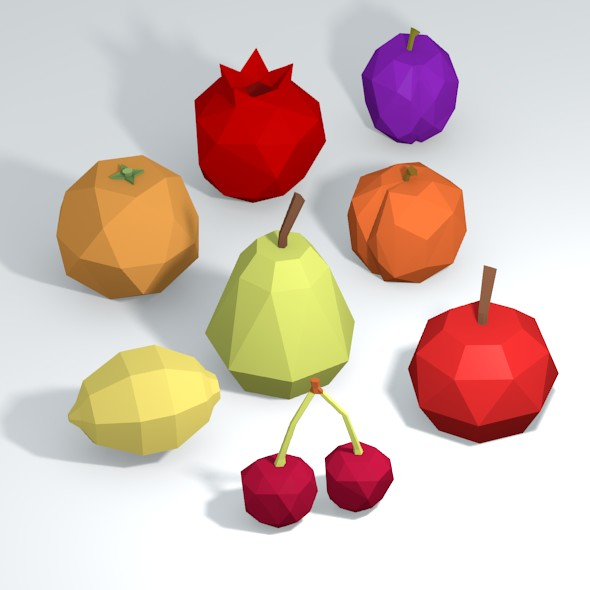 3DOcean Low Poly Fruits 20517364