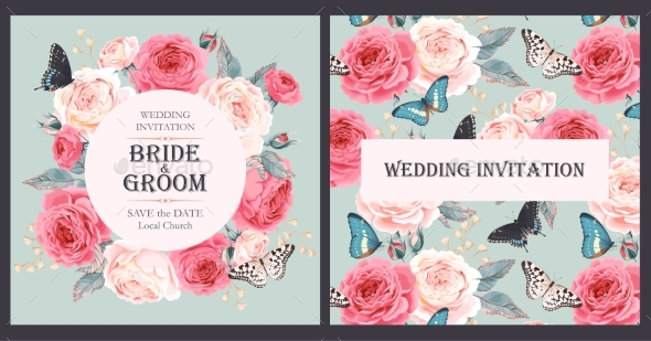 GraphicRiver Vintage Wedding Invitation 20517367