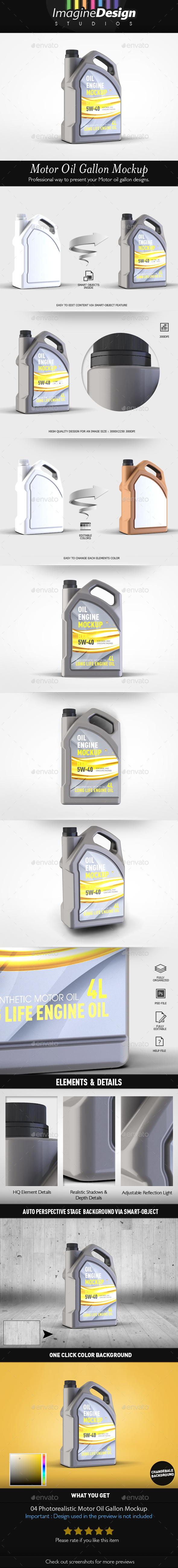 Motor Oil Gallon Mockup - Miscellaneous Packaging