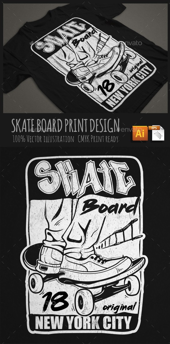 GraphicRiver Skate Board T-shirt Print 20517666