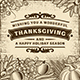 Thanksgiving Vintage Brown Card - GraphicRiver Item for Sale
