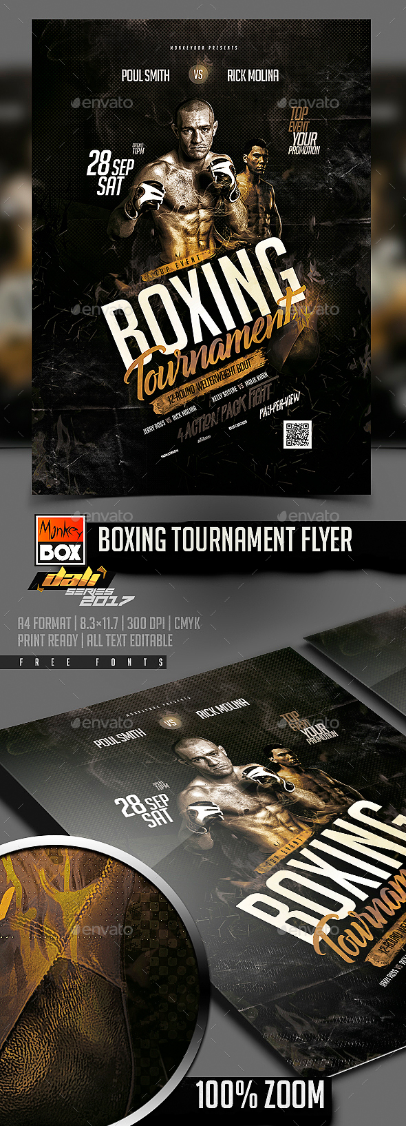Boxing Tournament Flyer - Flyers Print Templates
