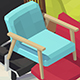 Vector isometric low poly Chairs