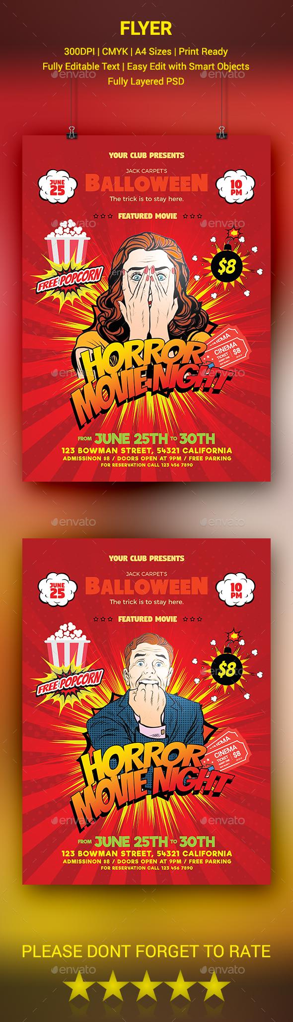 GraphicRiver Horror Movie Night Flyer 20518086
