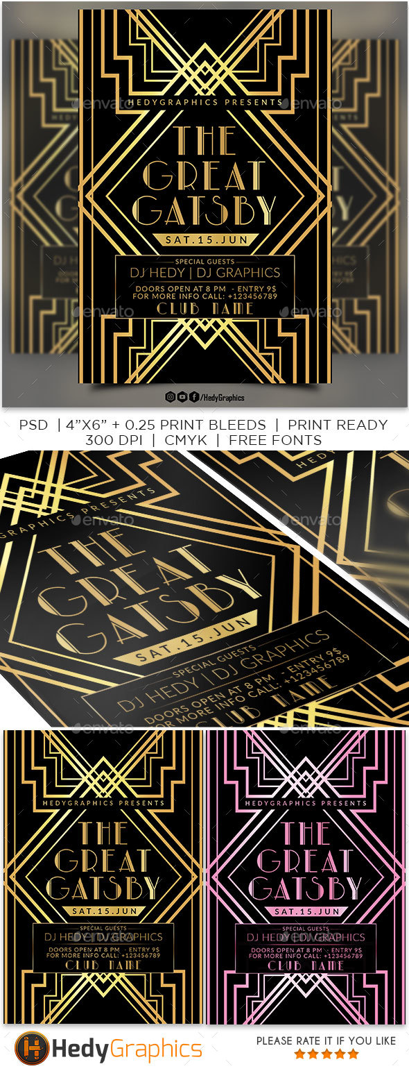 The Great Gatsby - Events Flyers