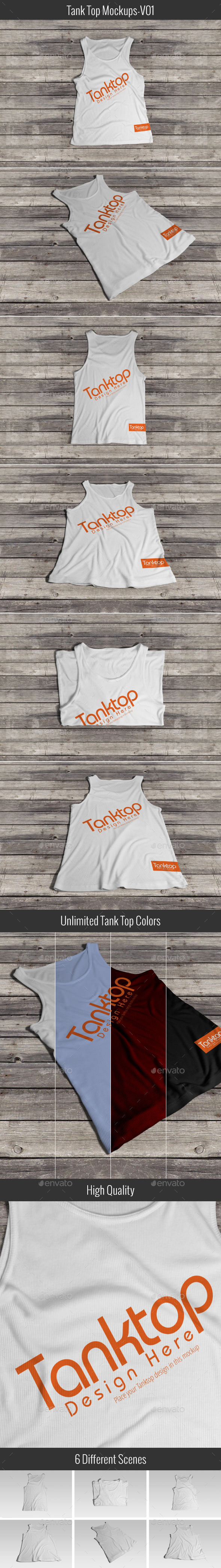 Tank Top Mock-up V01 - T-shirts Apparel