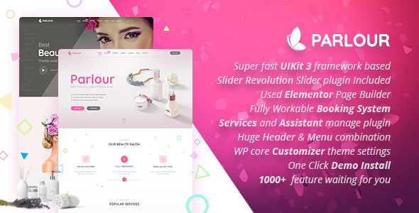 Parlour - Dedicated Beauty Salon WordPress Theme