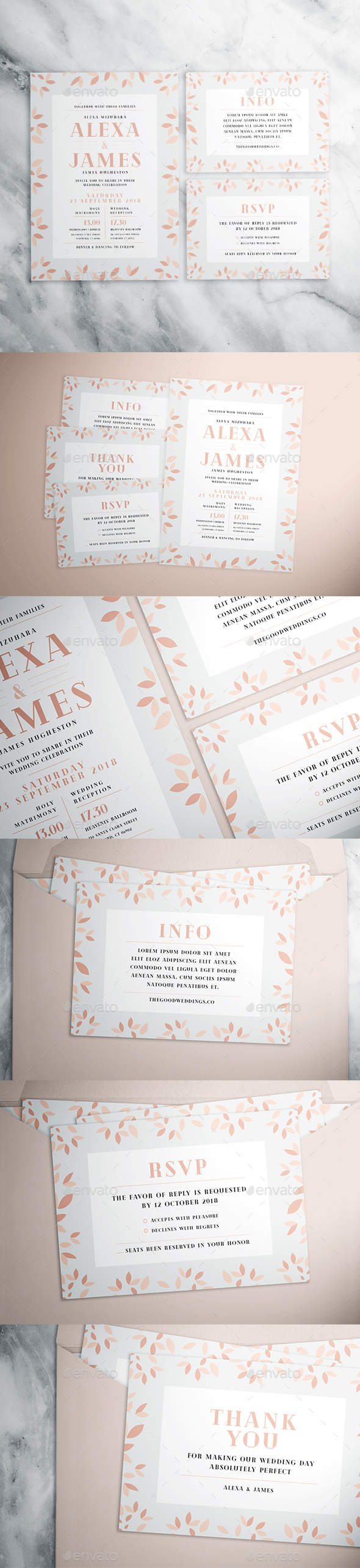 Simple Flower Wedding Suite - Weddings Cards & Invites
