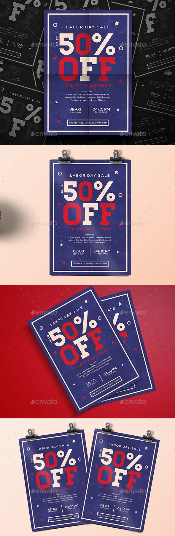 Labor Day Sale - Events Flyers