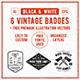 6 Hipster Vintage Badges - GraphicRiver Item for Sale