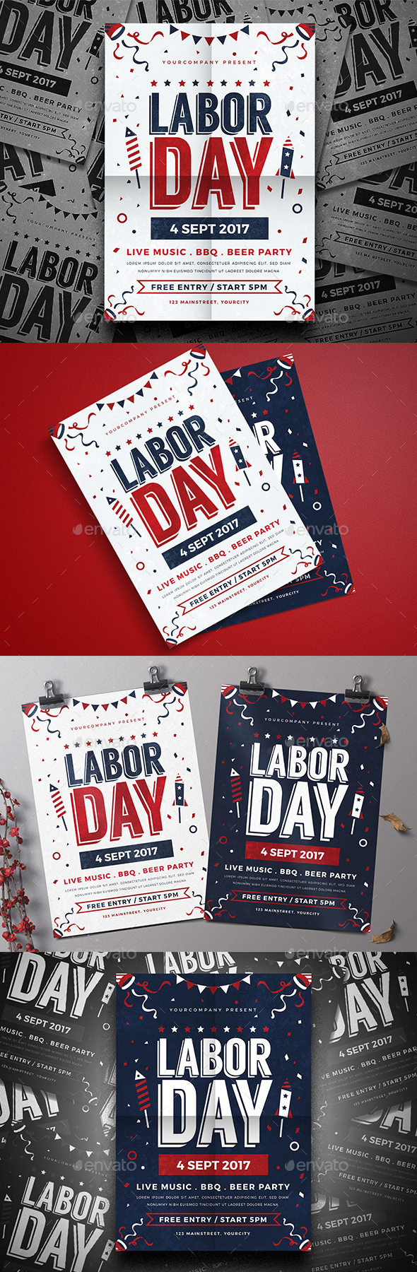 Labor Day Celebration - Events Flyers