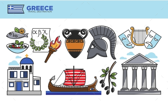 GraphicRiver Greece Travel Destination Promotional Poster with 20518843