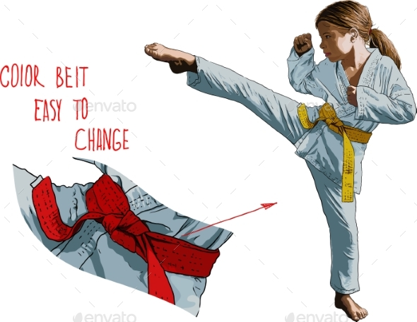 GraphicRiver Karateka Girl 20518870