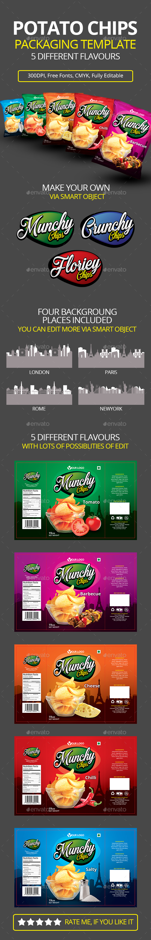 GraphicRiver POTATO CHIPS PACKAGING TEMPLATE 20519040
