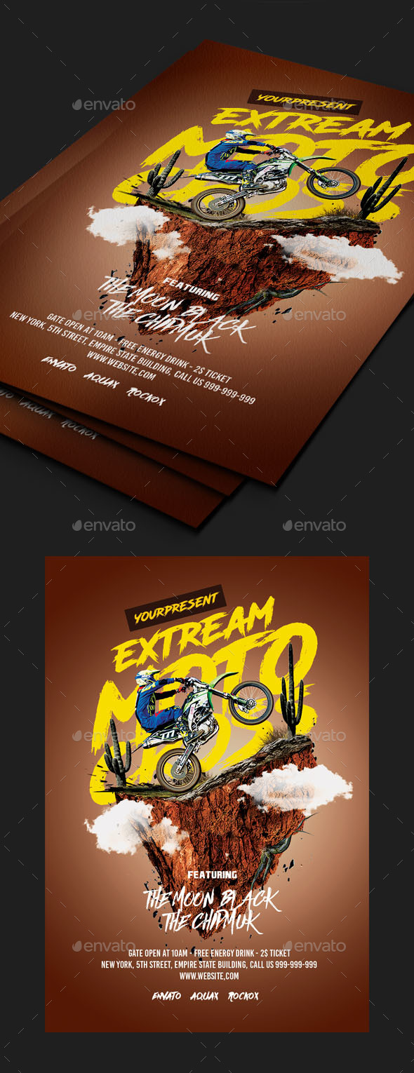 GraphicRiver Motocross Flyer Template 20519044