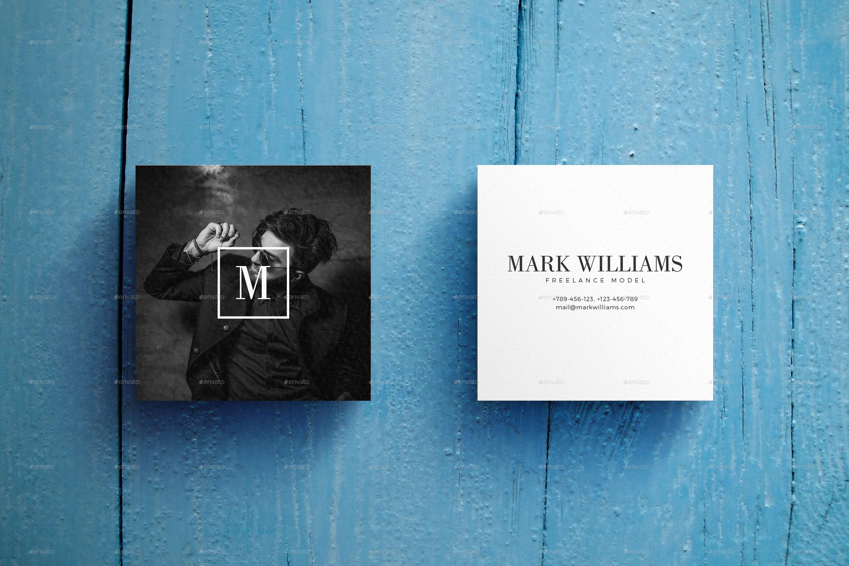 square business card mockup