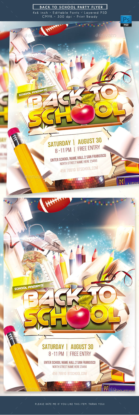GraphicRiver Back to School Flyer 20519080
