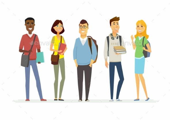 Senior School Students - People Characters