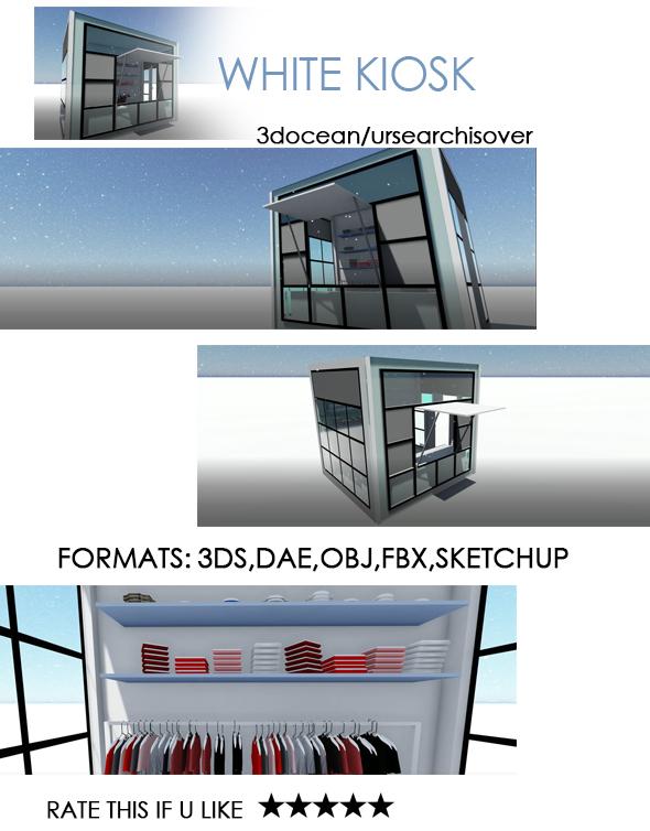 3DOcean White Kiosk 20519228