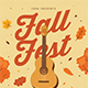 Fall Coustic Music Event Flyer