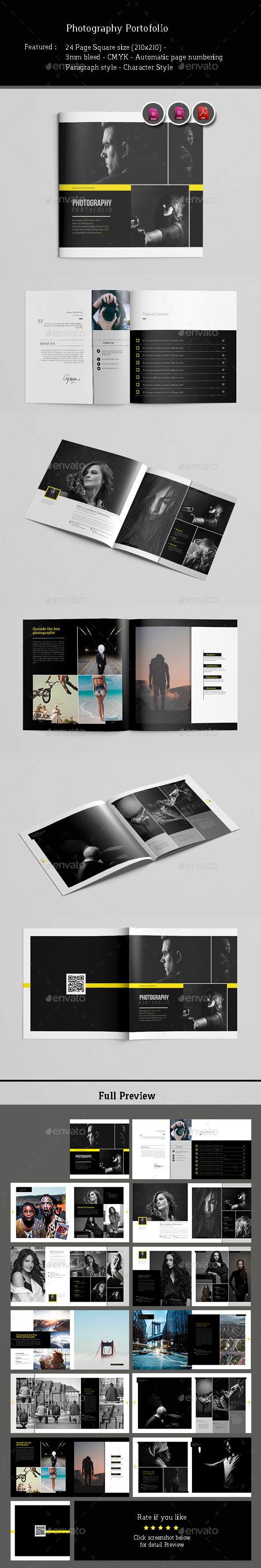 Photography Portofolio Template - Photo Albums Print Templates