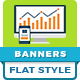Flat Style Animated Banner Ad Templates - HTML5 GWD - CodeCanyon Item for Sale