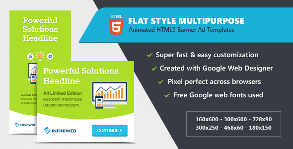 CodeCanyon Flat Style Animated Banner Ad Templates HTML5 GWD 20519450