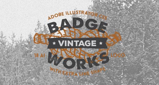 Vintage Hipster Badges