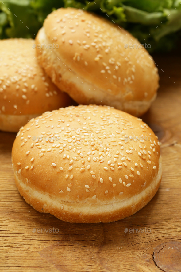 Buns for Hamburgers  - Stock Photo - Images