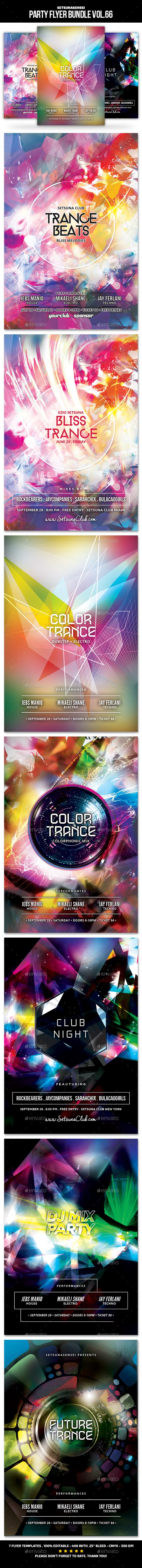 Party Flyer Bundle Vol.66 - Clubs & Parties Events