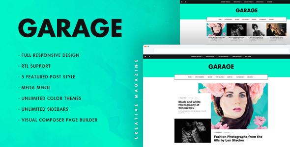 Garage Creative & Magazine WordPress Theme