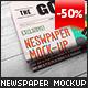 Newspaper Mock-Up - GraphicRiver Item for Sale