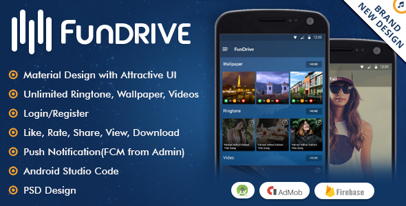 Fundrive - Ringtones, Videos & Wallpapers Download App - CodeCanyon Item for Sale