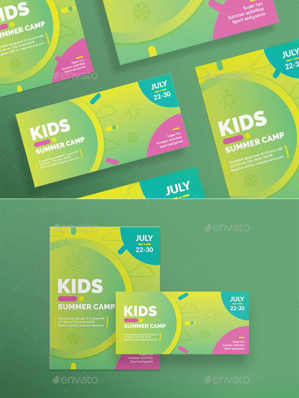 Kids Summer Camp Flyers - Flyers Print Templates