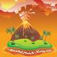 Cartoon Volcano Eruption - GraphicRiver Item for Sale