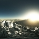 Aerial VR 360 Panorama of Mountains