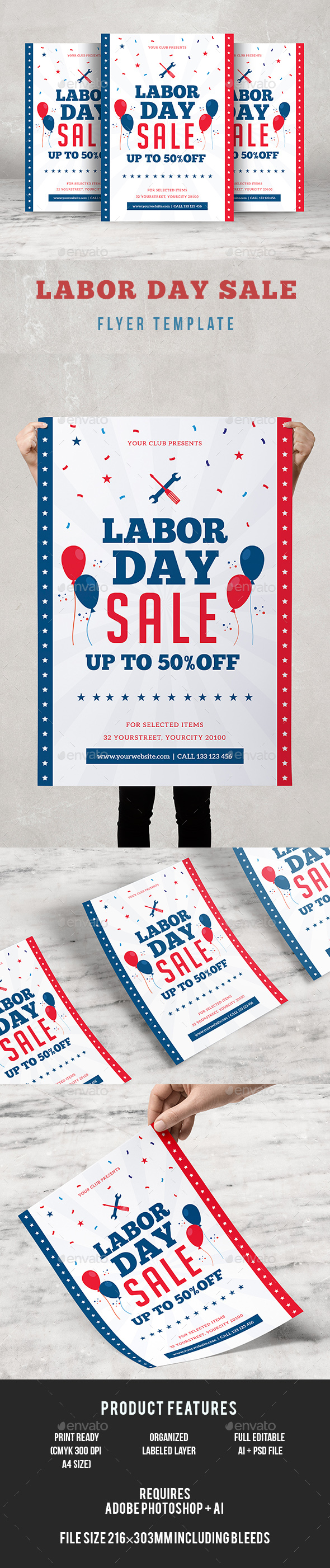 Labor Day Sale Flyer - Events Flyers