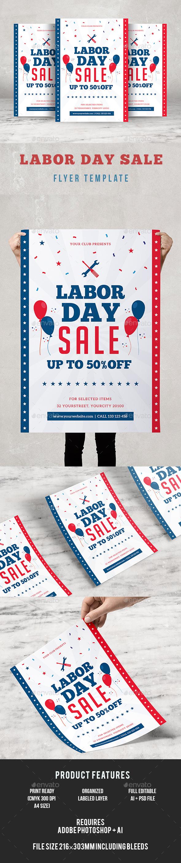 GraphicRiver Labor Day Sale Flyer 20520060