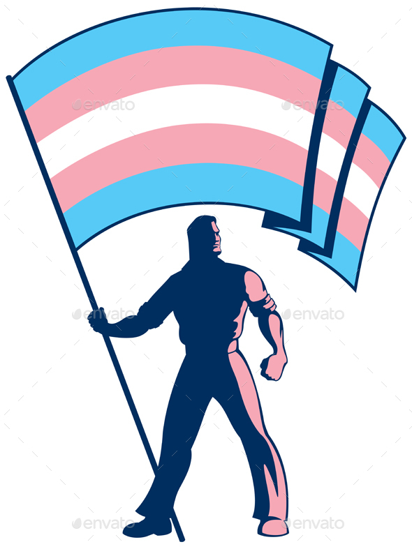GraphicRiver Transgender Pride Flag Bearer 20520064