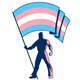 Transgender Pride Flag Bearer