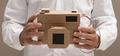 Photographer holding a cardboard camera - PhotoDune Item for Sale