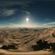 VR 360 Degree Aerial Panorama of Palms in Desert