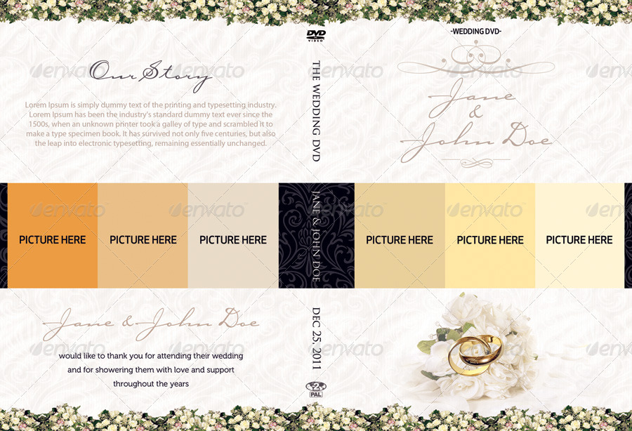 Classy Wedding Dvd Covers By Shermanjackson Graphicriver