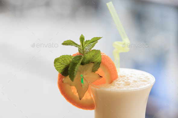 Milk cocktail - Stock Photo - Images