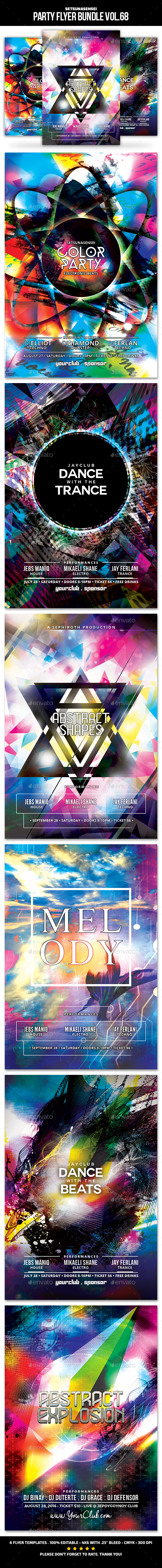 GraphicRiver Party Flyer Bundle Vol.68 20520307