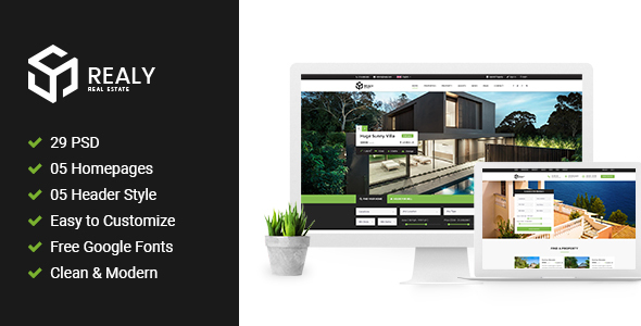 Realy | Real Estate PSD Template